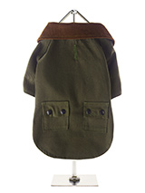 Woodland Country Jacket - Whether strolling through the city center or along a country lane your pup will look the part in our British styled Woodland Country Jacket. The beautiful soft corduroy collar has an enamel Urban Pup label pin as standard that adds just that little extra touch of class. The hard wearing canvas outer...