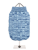 Blue Waffle Textured Knitted Sweater - Our Blue Waffle Textured Knitted Sweater has a tactile waffle-knit finish that is soft to the touch and easy on the eye. A high turtle neck and elasticated sleeves make this sweater extra cosy not to mention very stylish and chic.