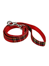 Red Tartan Fabric Lead - Here at Urban Pup our design team understands that everyone likes a coordinated look. So we came up with a strong Red Tartan Fabric Lead that will match up with our Luxury Fur Lined Red Tartan Harness.<br />Here at Urban Pup our design team understands that everyone likes a coordinated look. So we a...