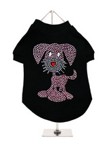 UrbanPup GlamourGlitz Dog T-Shirt - Exclusive GlamourGlitz 100% Cotton Dog T-Shirt. This cute, light hearted design for dog lovers is sure to please your best friend and make a statement about who is the love of your life. Crafted with Pink and Silver Rhinestuds that catch a sparkle in the light. Wear on it's own or match with a Glamo...