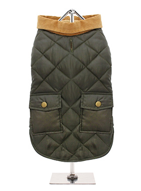 Forest Green Quilted Town & Country Coat