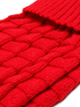 Red Waffle Textured Knitted Sweater